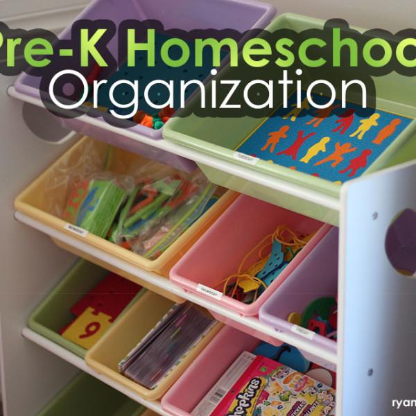Pre-K Homeschool Organization