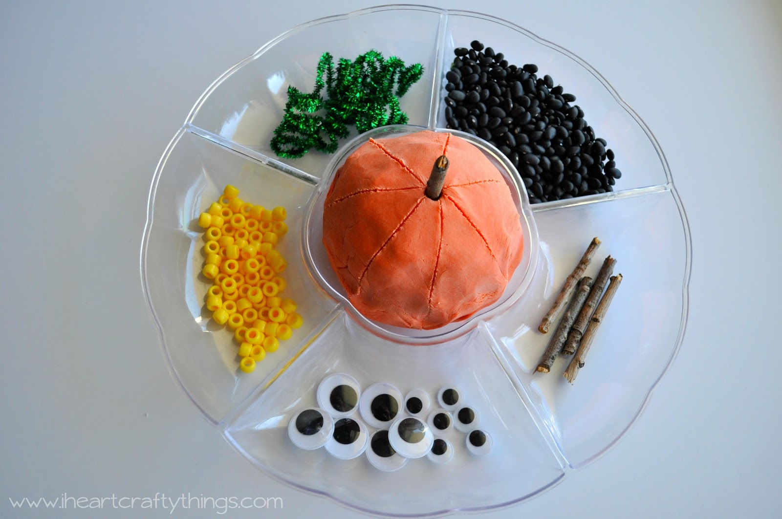 Pumpkin Play Dough 1