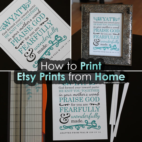 How to Print Etsy Prints from Home