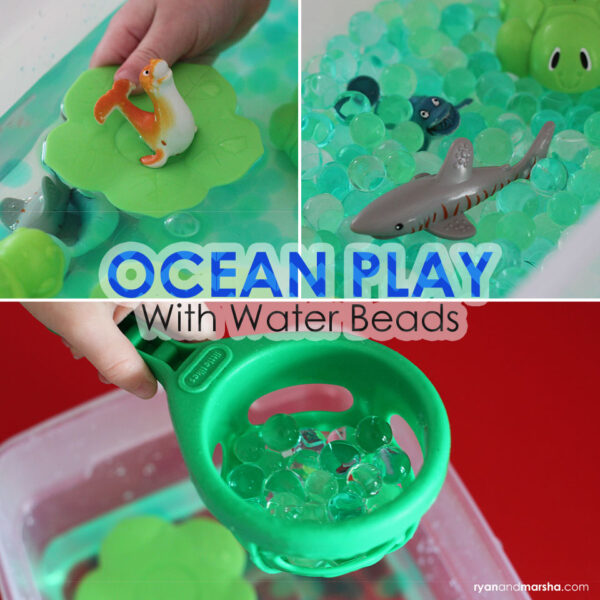 Ocean Play with Water Beads