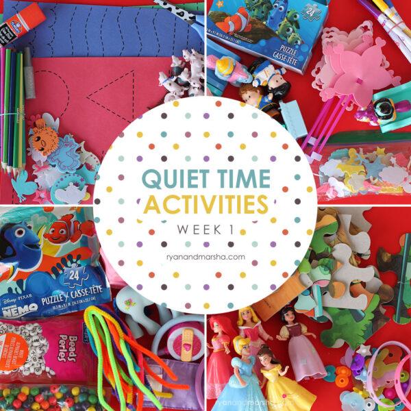 Quiet Time Activities: Week 1
