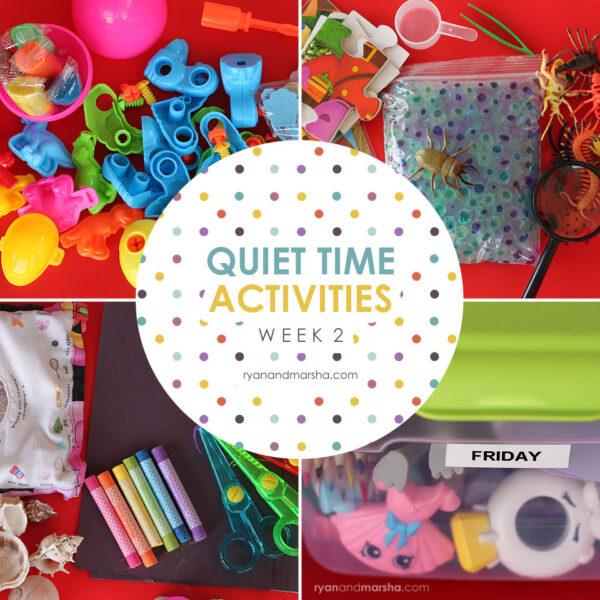 Quiet Time Activities: Week 2