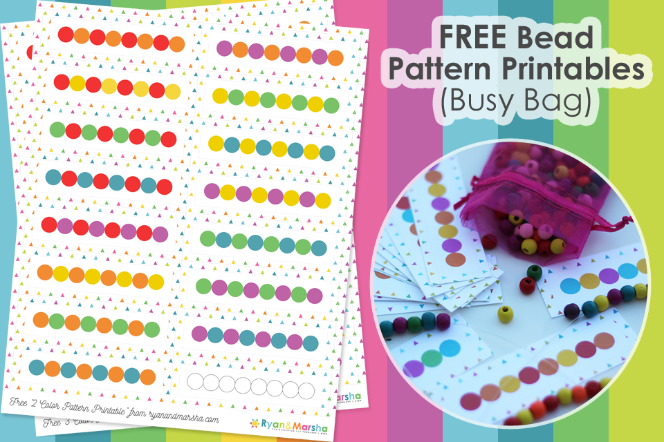 FREE Bead Pattern Busy Bag Printables